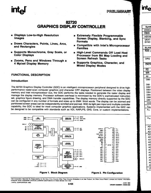 Intel 82720 Graphics Display Controller