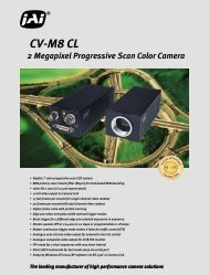 2 Megapixel Progressive Scan Color Camera CV-M8 CL