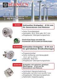 Hohlwellen Drehgeber - Ø 94 mm für Generatoren und Motoren ...