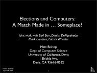 design and build e-voting systems in such a way that we can analyze