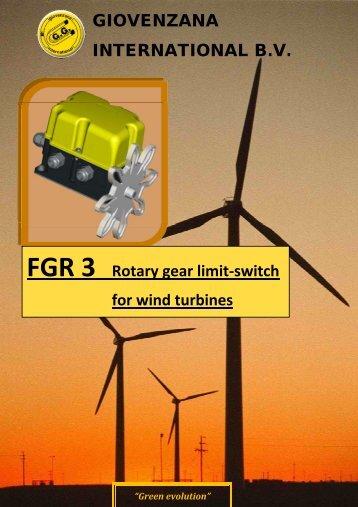 GIOVENZANA INTERNATIONAL B.V. FGR 3 Rotary gear limit-switch ...