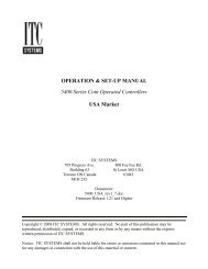 OPERATION & SET-UP MANUAL 5400 Series Coin Operated ...