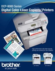 High-quality digital color laser copiers and printers - Brother