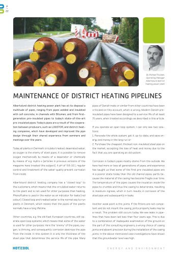 MAINTENANCE OF DISTRICT HEATING PIPELINES - DBDH