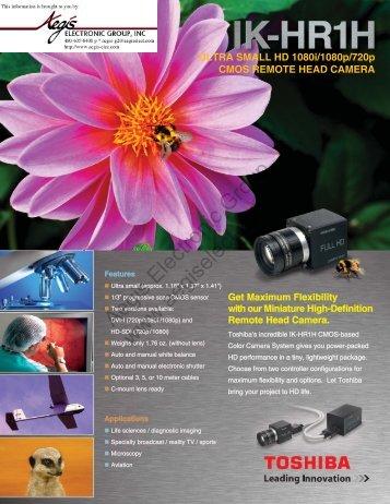 ULTRA SMALL HD 1080i/1080p/720p CMOS REMOTE HEAD ...