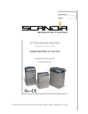 Scandia Electric Heater Install Large JC 052512 - Superior Sauna ...