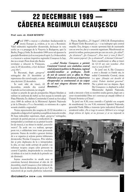 22 decembrie 1989 - Ministerul Apărării Naţionale