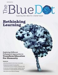 The Blue Dot Issue 7: Rethinking Learning: Exploring Different Pedagogical Approaches for transform Education For Humanity