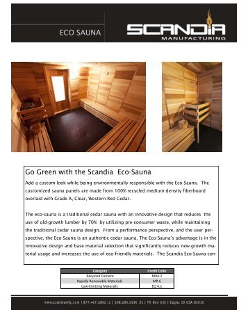 ECO SAUNA - Hybrid Steam Rooms, Sauna Heaters