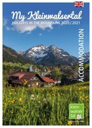 My Kleinwalsertal HOLIDAYS IN THE MOUNTAINS 2020/2021