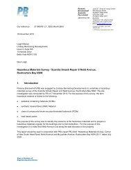 Hazardous Materials Survey - Scandia Smash ... - City of Sydney