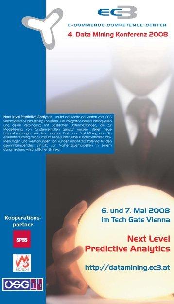 4. Data Mining Konferenz 2008 Kooperations ... - Data Technology