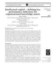 Intellectual capital – defining key performance indicators - Cranfield ...