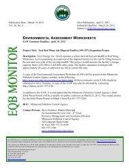 environmental assessment worksheets - Environmental Quality Board