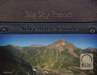 Adventure Guide - Big Sky Resort