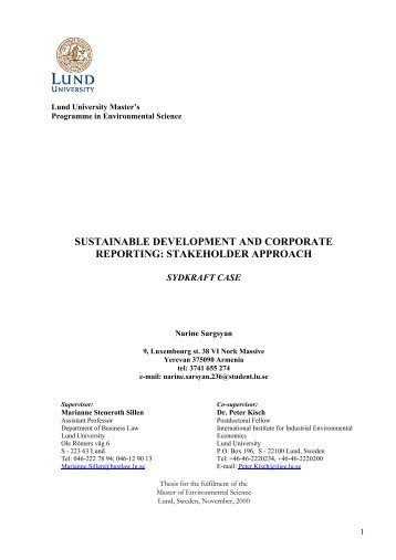 Sustainable Development and Corporate Reporting - lumes