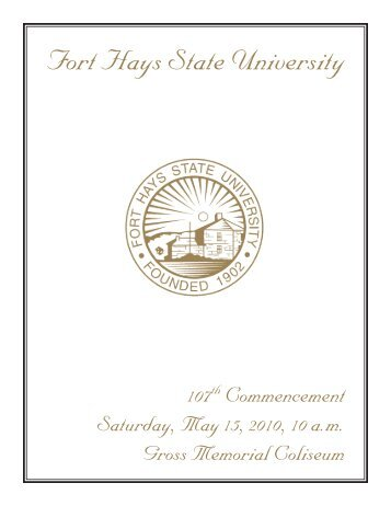 Download the 2010 FHSU Commencement Program, 107th Edition