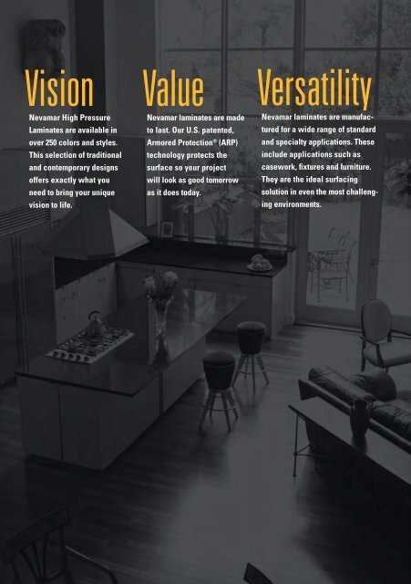 Vision, Value and Versatility - Nevamar