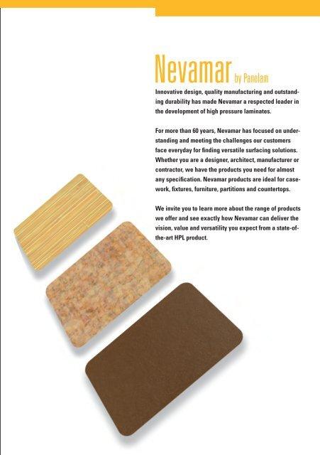 Vision, Value and Versatility - Nevamar