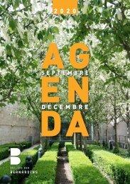 Agenda septembre - décembre 2020