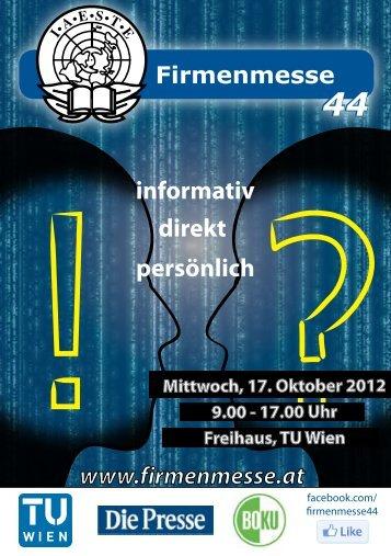 informativ direkt persönlich - IAESTE Vienna - IAESTE Austria