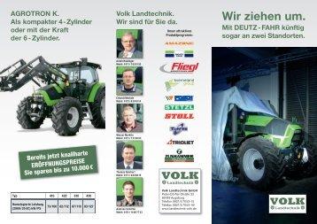 Wir ziehen um. - Landtechnik & Landmaschinenhandel Volk in ...