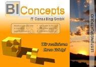 Produktportfolio - Biconcepts IT Consulting Gmbh