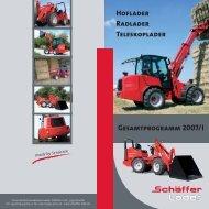 GEsAMtpROgRAMM 2007/I - Hoflader - Teleskoplader - Radlader