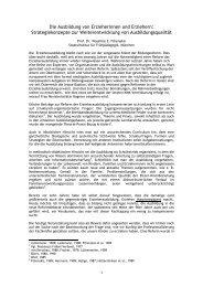 Die Ausbildung von Erzieherinnen und Erziehern - Wassilios E ...