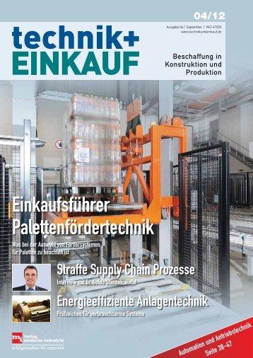 Ausgabe 4 / 2012 - technik + EINKAUF