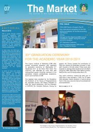 For the second consecutive year - The Cyprus Institute of Marketing