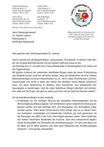 Oberbürgermeister - Lebenswertes Bad Reichenhall