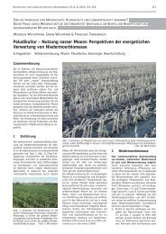Paludikultur – Nutzung nasser Moore: Perspektiven der ... - MUGV