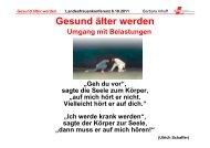 Gesund älter werden B. Inhoff Landesfrauenkonferenz 6.10 ... - GEW