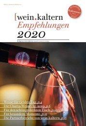 wein.kaltern Empfehlungen 2020