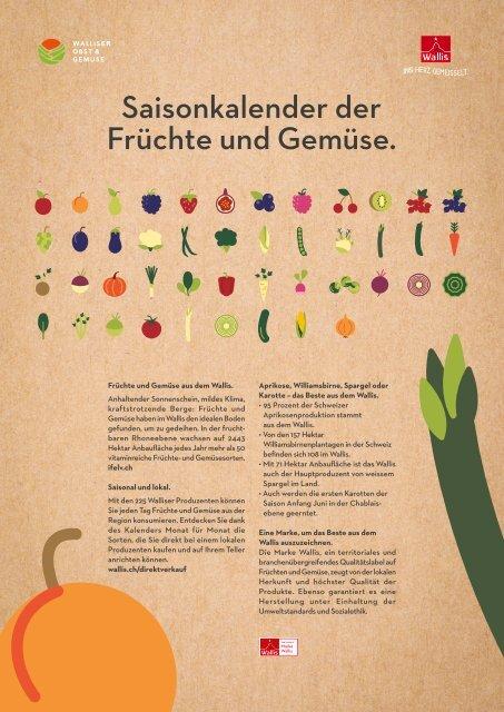 Saisonkalender der Walliser Früchte und Gemüse