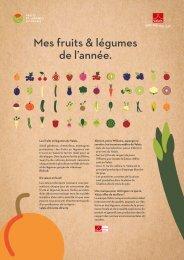 Calendrier de saison des fruits et légumes du Valais