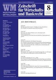 RECHT Titel 8.pmd - WM Wirtschafts- und Bankrecht
