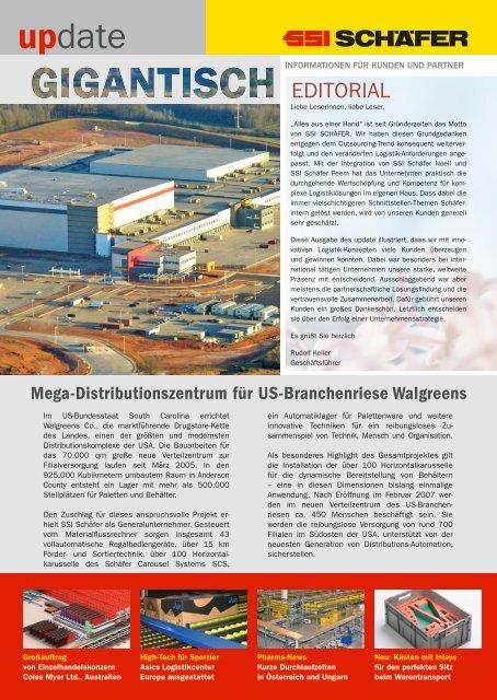 Mega-Distributionszentrum für US-Branchenriese ... - SSI Schäfer