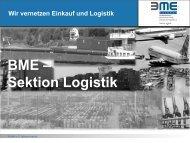 Aktivitäten der Sektion Logistik - BME
