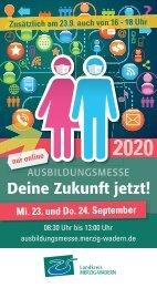 Ausbildungsmesse - Deine Zukunft jetzt! 2020