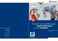 Transport- und Logistiklösungen made in Germany – und das weltweit.