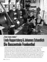Die Basszentrale Frankenthal - Huppertsberg, Lindy