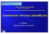 KOOPERATION STIFTUNG LEBENSBLICKE