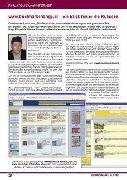 PHILATELIE und INTERNET - Briefmarkenshop.at