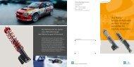 Das Rallye- Gruppe-N-Fahrwerk: vierfach leistungs- verstellbar für ...