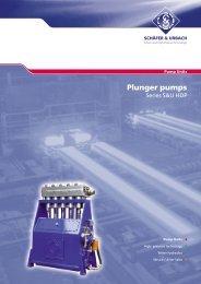 Plunger pumps - SCHÄFER & URBACH