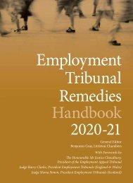 Employment Tribunal Remedies Handbook 2020_21 Digital Edition
