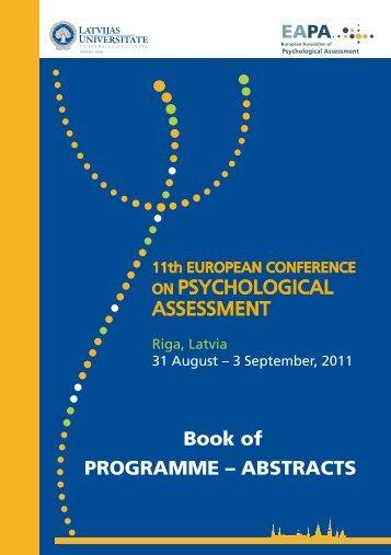 U n iversity cafe - 11th European Conference on Psychological ...