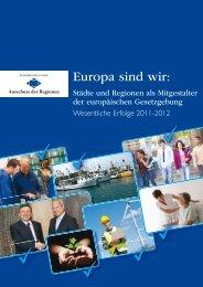 Wesentliche Erfolge 2011-2012 - Europa